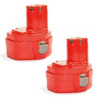 2x Batteri 14.4V, 3Ah, NiMH för Makita 4033D, 4333D, 6281D, 6281DWAE, 6381DWPE - 1422, 1433, 1434, 1435