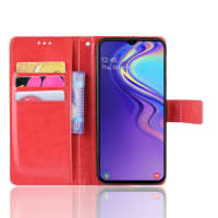 Case for Samsung Galaxy M20 (SM-M205) - PU Leather, Red Case