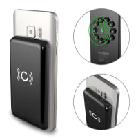 Cellonic® Wireless Powerbank (Qi-zertifiziert) 2600mAh für Qi: iPhone X, 8, 8 Plus / Samsung Galaxy S7, S6, Edge, Note 5 / Nokia, Microsoft Lumia 950, 930, 830, 735 (...) - kabellos Externer Akku Ladegerät