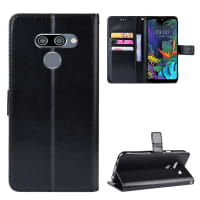 Case for LG K50 / Q60 - PU Leather, Black Case