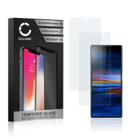 2x Panzerglas Sony Xperia 10 Plus (3D Full Cover, 9H, 0,33mm, Edge Glue) Displayschutz Tempered Glass