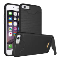 Tapa trasera para Apple iPhone 6 Plus / 6S Plus - TPU, negro Funda