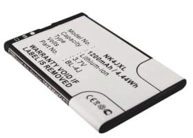 Akku für Nokia Lumia 620 / C6 (C6-00) / 600 (1200mAh) BL-4J