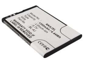Batería para Nokia Lumia 620 / C6 (C6-00) / 600 (1200mAh) BL-4J