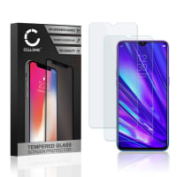 2x Displaybeschermglas Realme 5 Pro (2.5D, 9H, 0,33mm, Full Glue) Tempered Glass