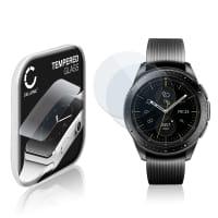 2x Cristal protector de la pantalla Samsung Galaxy Watch - 42mm (SM-R810) (2.5D, 9H, 0,33mm, Full Glue) Protector pantalla