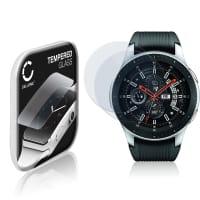 2x Cristal protector de la pantalla Samsung Galaxy Watch - 46 mm (SM-R800) (2.5D, 9H, 0,33mm, Full Glue) Protector pantalla