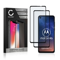 2x Screen protector glass Motorola One Vision (3D Case-friendly, 9H, 0,33mm, Full Glue) Tempered Glass