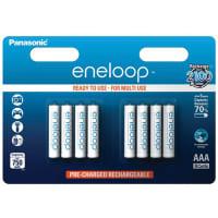 Accus Batteries AAA  Panasonic eneloop BK-4MCCE 8x