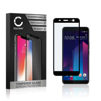 Näytönsuojat Lasi HTC U11 Plus (3D Full Cover, 9H, 0,33mm, Full Glue) Tempered Glass