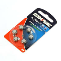 Hearing Aid batteries Rayovac HA13,V13A,PR 13 H,Typ H 13 PR48 13 (x6) Button Cell