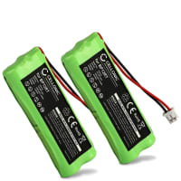 2x Battery for Dogtra 1900NCP 1902NCP 1802NCP 175NCP 1600NCP 1500NCP, 200NCP 280NCP 282NCP, Dogtra YS-500 - BP12RT,GPRHC043M016 (300mAh) Spare Battery Replacement