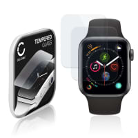 2x Panzerglas Apple Watch 4 / 5 - 40mm (2.5D, 9H, 0,33mm, Full Glue) Displayschutz Tempered Glass