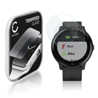 2x Screen protector glass Garmin vivoactive 3 / vivoactive 3 Music (2.5D, 9H, 0,33mm, Full Glue) Tempered Glass