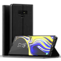 Flip Case for Samsung Galaxy Note 9 - PU Leather, Black Case