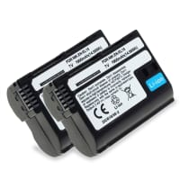 2x Battery for Nikon 1 V1, Nikon D500, Nikon D600 D610, Nikon D7000 D7100 D7200 D750 D7500, Nikon D800 D800E D810 D810A D810E D850 - EN-EL15,ENEL15a 1900mAh , Replacement battery
