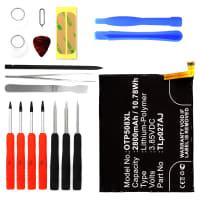Battery for Alcatel A5 LED incl. Tool-kit - TLp027AJ (2800mAh) Replacement battery