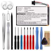 Batterie pour Navigon 2100 2100 max 2110 2110 max 2120 2120 max 2150 max 2310 - 03028 (1200mAh) + Set de micro vissage Batterie Rechange
