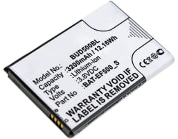 Batteri for Bluebird EF500r - BAT-EF500_S (3200mAh) reservebatteri