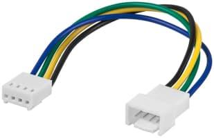 PC Lüfter Stromkabel Verlängerung - Lüfter-Stecker (4-Pin) > Lüfter-Buchse (4-Pin)