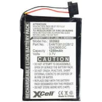 Battery for Medion GoPal P4410, Medion MD95300 MD96205 MD96220, Navigon 7110 7100, Mitac Mio C210 - 11-B0001MX,BPLP1200 11-B0001MX,E3MC07135211,027260EOC,E4MT081202B12 (1250mAh) Replacement battery