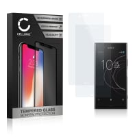 2x Panzerglas Sony Xperia XZ1 (3D Full Cover, 9H, 0,33mm, Edge Glue) Displayschutz Tempered Glass