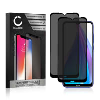 2x Privacy Skærmbeskytter glas Xiaomi Redmi Note 8T (3D Case-friendly, 9H, 0,33mm, Edge Glue) Screen Protector