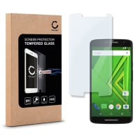 Screen protector glass for Motorola Moto X Play - Tempered Glass (HD-Quality / 2.5D / 0,33mm / 9H)