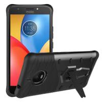 Back Cover voor Motorola Moto E4 Plus - TPU, zwart Tasje Zakje Hoesje