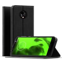 Flipcase Motorola Moto G6 PU Leather zwart Book Case Portemonnee Hoesje Flip Hoesje Book Cover Flip Wallet met Kaarthouder