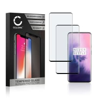2x Screen protector glass OnePlus 7 Pro (3D Case-friendly, 9H, 0,33mm, Edge Glue) Tempered Glass