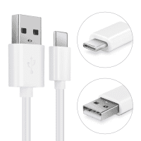 USB Cable for JBL Charge 4 Flip 5 Link Portable LIVE 300TWS Pulse 4 TUNE 220TWS - Charging Cable 1m Data Cord 3A White PVC Wire Lead