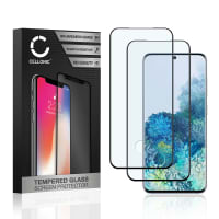 2x Screen protector glass Samsung Galaxy S20 (SM-G980) (3D Case-friendly, 9H, 0,33mm, Full Glue) Tempered Glass