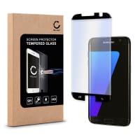 Cristal protector de la pantalla (CASE-FRIENDLY) para Samsung Galaxy S7 Edge (SM-G935 / SM-G935F) - Tempered Glass (Calidad HD / 3D Case-friendly / 0,33mm / 9H)