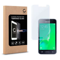 Cristal protector de la pantalla para Samsung Galaxy J1 (2016 / SM-J120) - Tempered Glass (Calidad HD / 2.5D / 0,33mm / 9H)