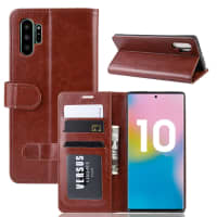 Case for Samsung Galaxy Note 10 Plus (SM-N975) / Galaxy Note 10 Plus 5G (SM-N976) - PU Leather, Brown Case