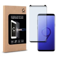Cristal protector de la pantalla (CASE-FRIENDLY) para Samsung Galaxy S9 (SM-G960) - Tempered Glass (Calidad HD / 3D Case-friendly / 0,33mm / 9H)
