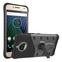 Back Cover voor Motorola Moto G5s Plus - TPU, zwart Tasje Zakje Hoesje