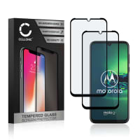 2x Panzerglas Motorola Moto G8 (3D Full Cover, 9H, 0,33mm, Full Glue) Displayschutz Tempered Glass