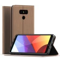 Flip Case for LG G6 - PU Leather, Golden Case