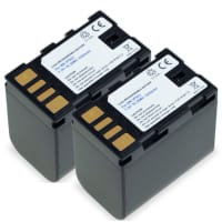 2x Kamera Akku für JVC GY-HM100 GS-TD1 GZ-MG120 -MG130 -MG275 -MG330 -MG340 -MG465 -MG530 GZ-HD7 GZ-MS95 - BN-VF808 BN-VF815 BN-VF823 Ersatzakku 2250mAh , Batterie