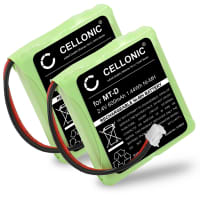 2x Batteria per Fritz Fon MT-D / Audioline Slim DECT 500 [...] / Telekom Sinus A201 [...] / Doro TH50 - 5M702BMX,GP0735,GP0747,GP0827 (600mAh) batteria di ricambio