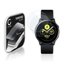 2x Skærmbeskytter glas Samsung Galaxy Watch Active (SM-R500) (2.5D, 9H, 0,33mm, Full Glue) Screen Protector