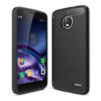 Back Cover voor Motorola Moto E4 - TPU, zwart Tasje Zakje Hoesje