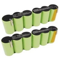 2x Battery 7.2V, 3000mAh, NiMH for Gardena Accu 90 - 8804, 8820 (2x) Spare Battery Replacement