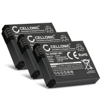 3x Battery for GoPro HD Hero 2, GoPro HD Hero, GoPro Hero - AHDBT-002,AHDBT-001,ABPAK-0014 (1100mAh) Replacement battery