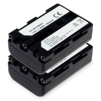 2x Battery for Sony DSC-F707, -F717, -F828, DSC-R1, DSLR-A100, DSC-S30, -S50, -S70, -S75, MVC-CD250, Cyber-Shot - NP-FM55H,NP-FM50,NP-QM51 (1600mAh) Replacement battery