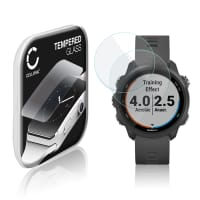 2x Screen protector glass Garmin Forerunner 245 (2.5D, 9H, 0,33mm, Full Glue) Tempered Glass