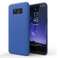 Coque Samsung Galaxy S8 (SM-G950 / SM-G950F) Etui Housse Pochette Bleu Foncé Silicone