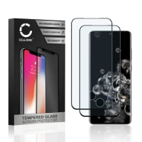 2x Screen protector glass Samsung Galaxy S20 Ultra (SM-G988) (3D Case-friendly, 9H, 0,33mm, Full Glue) Tempered Glass